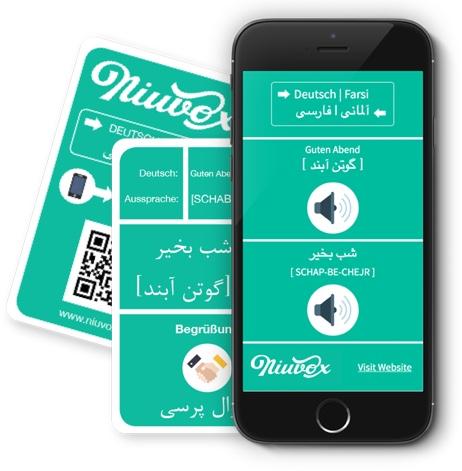 Niuvox Lernkarten - Deutsch - Arabisch, Deutsch - Farsi, SmartphoneX