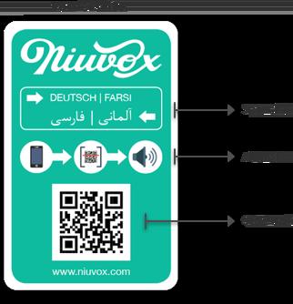 Niuvox Lernkarten - Deutsch/Arabisch - Deutsch/Farsi