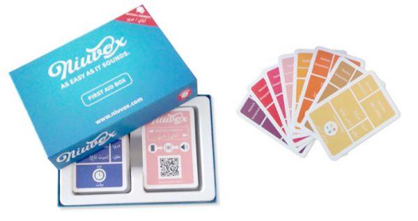 Niuvox First Aid Box - Deutsch Arabisch und Deutsch Farsi - Deutsch lernen