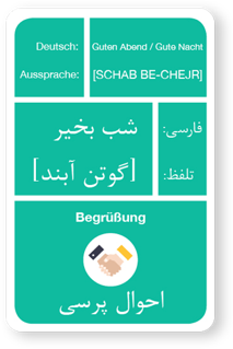 Niuvox learning cards - German/Arabic or German/Farsi - READ IT