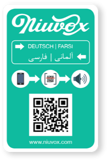 Niuvox learning cards - German/Arabic or German/Farsi - SCAN IT